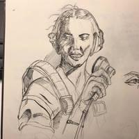 WASP pilot sketch radio Check