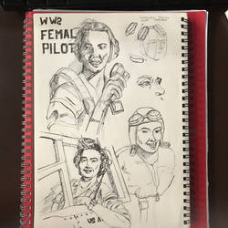WASP pilots from WW2 by 1nakata