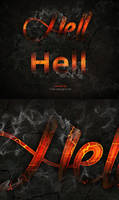 Photoshop text effects hell fire by Free-designs-net