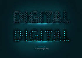 Photoshop digital text effects