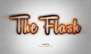 Photoshop The Flash text effects