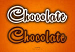 Photoshop chocolate text effects