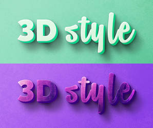 3D text effect by Free-designs-net