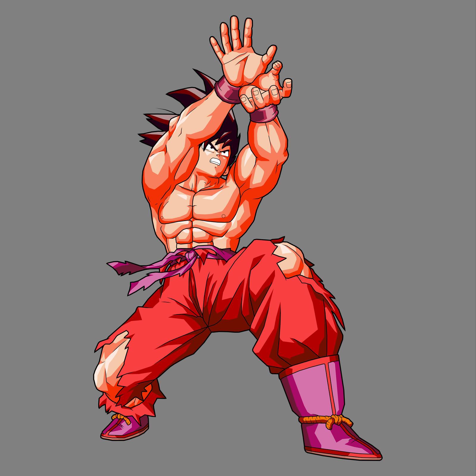 Goku Kaioken BL Artwork Edit by drozdooGoku