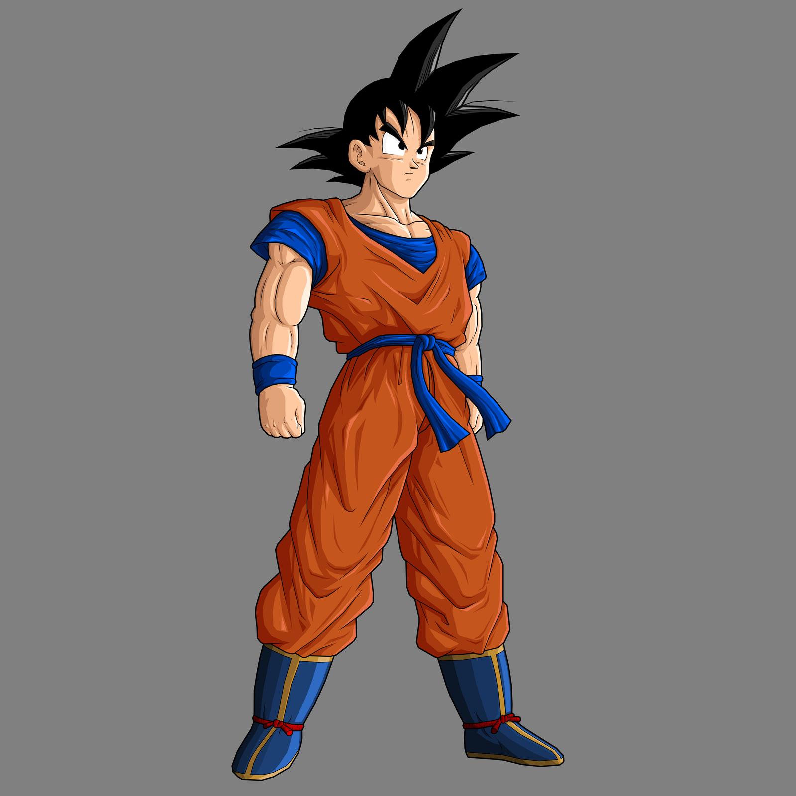 Goku base - remake by drozdoo on DeviantArt
