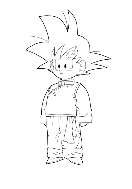 goten coloring pages - photo#28