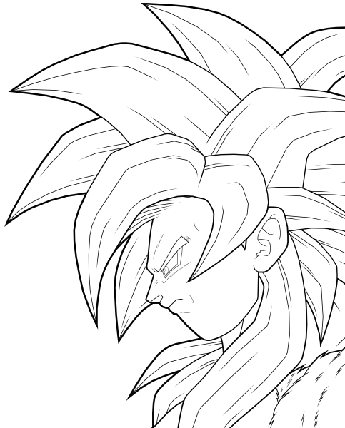 Awesome Dbz Goku Ssj4 Coloring Pages Gift - Resume Ideas - namanasa.com