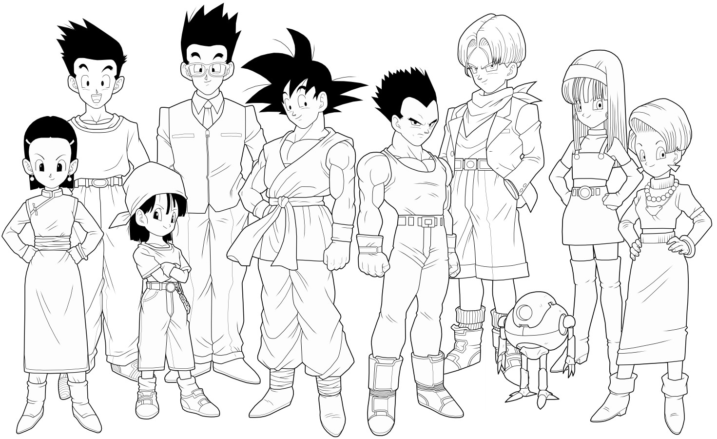 dragonball gt coloring book pages - photo#24