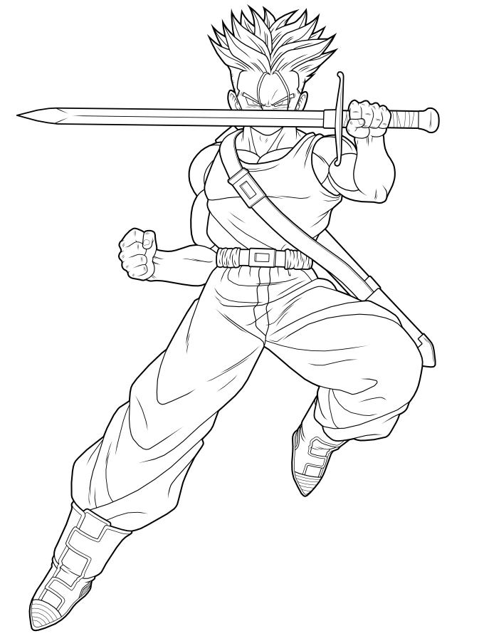 Future Trunks SSJ 1st preview by drozdoo on DeviantArt