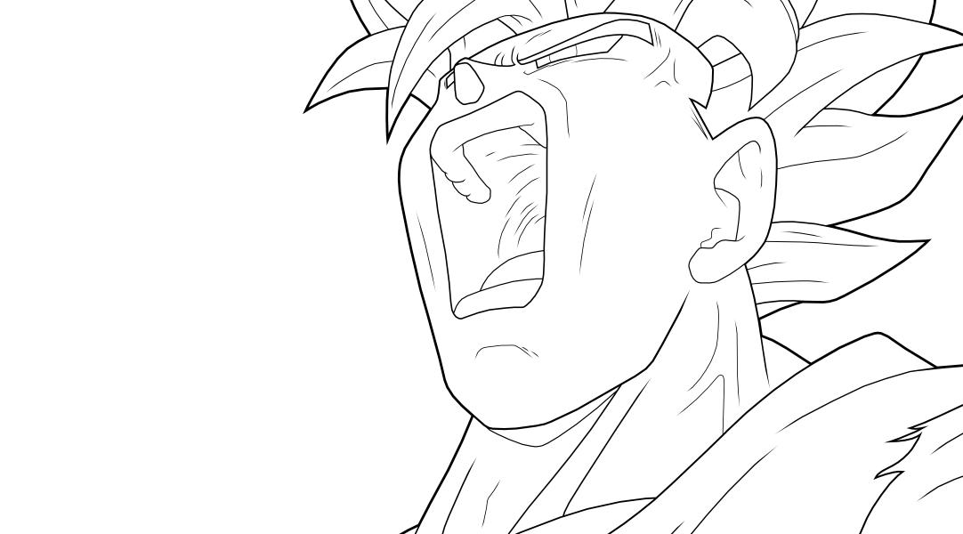 Vegeta Para Colorear Baby Para Goku Y Vegeta Para Pintar: Goku SSJ2 Para Colorear