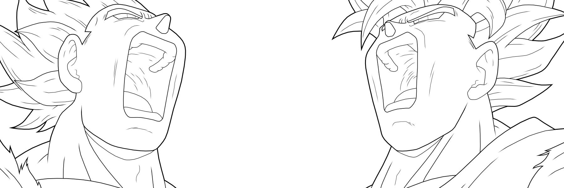 Goku Vegeta SSJ2 by drozdoo