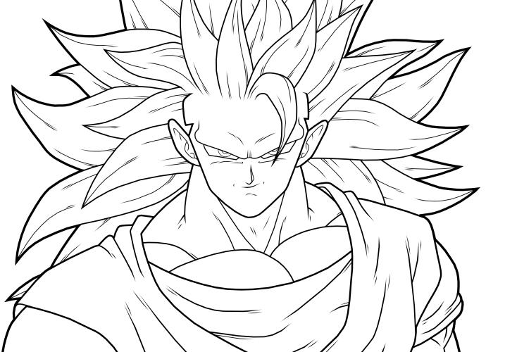 D Line Drawings Xbox : Goku ssj lineart by drozdoo on deviantart
