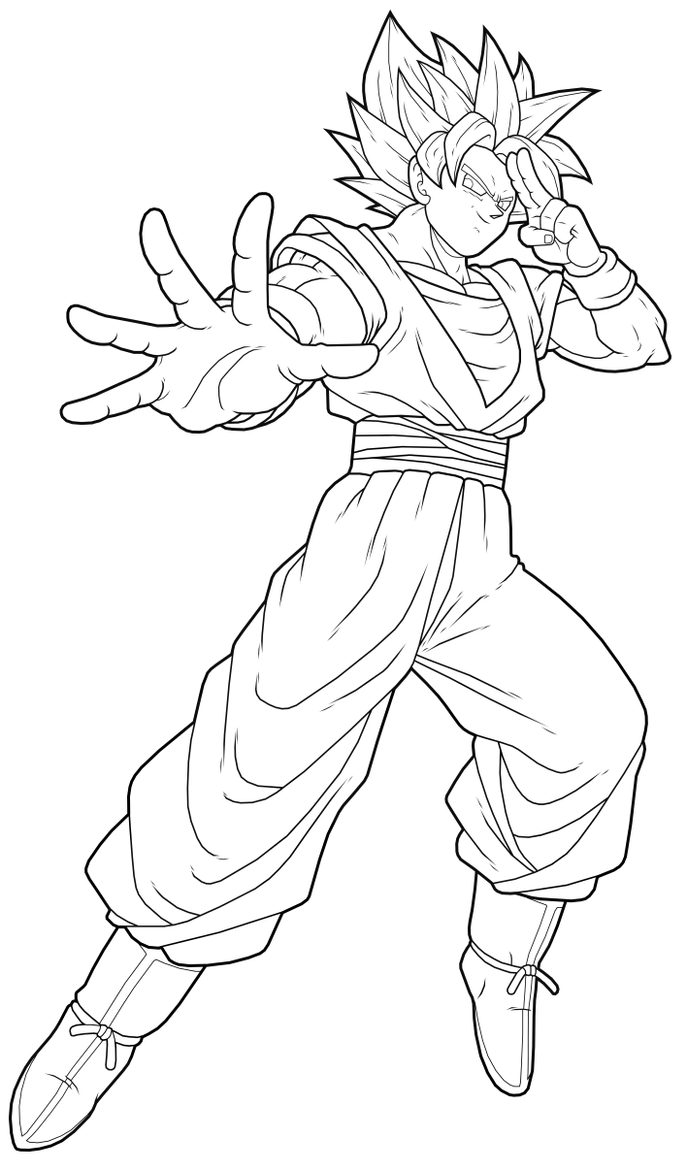 Goku SSJ2 by drozdoo on DeviantArt