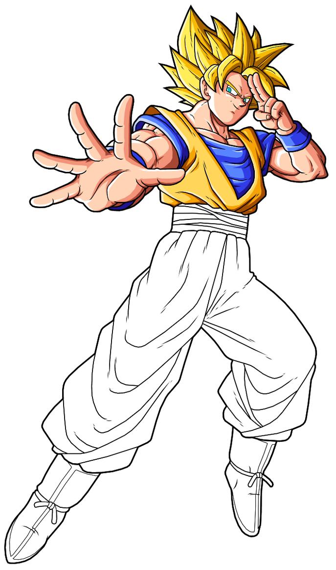 Goku SSJ2 preview 2 by drozdoo on DeviantArt