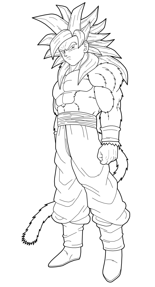 Goku SSJ4 Full Body 1st preview by drozdoo on DeviantArt