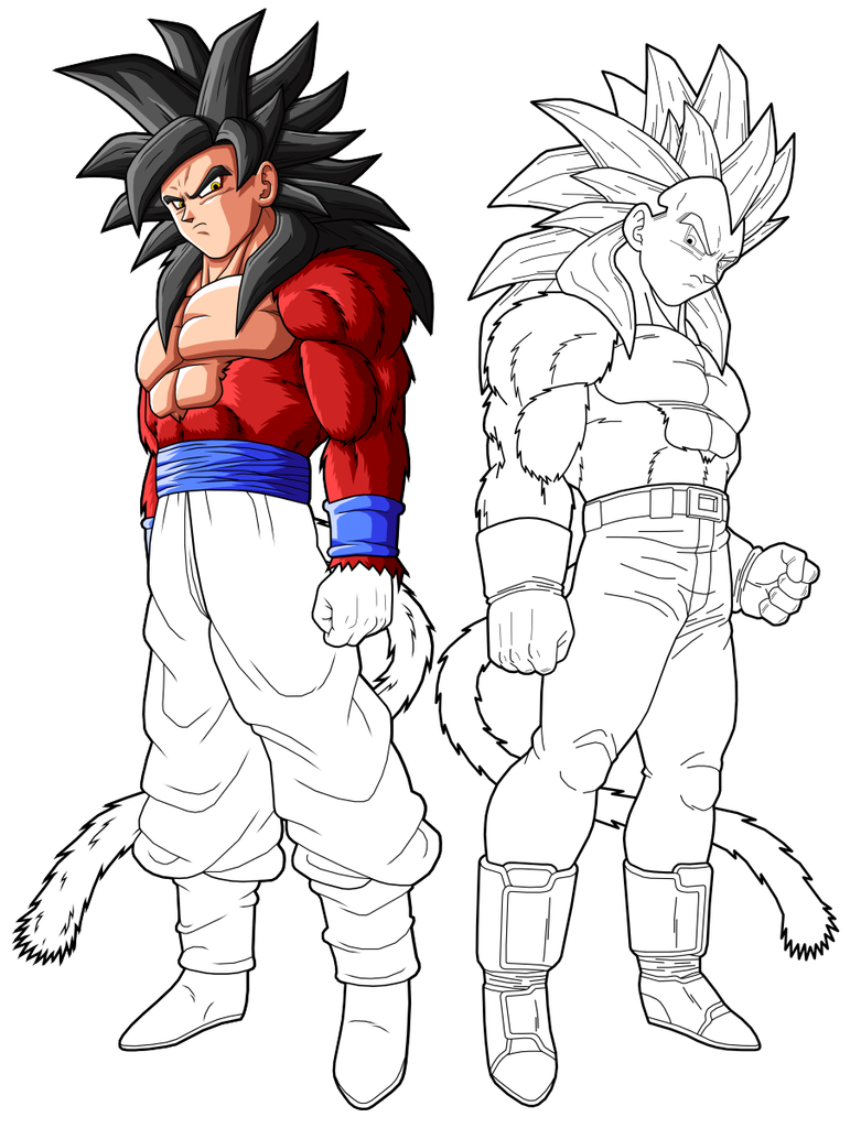 goku ssj4 vegeta ssj4 preview 2 by drozdoo on DeviantArt