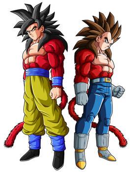 Goku SSJ4 and Vegeta SSJ4
