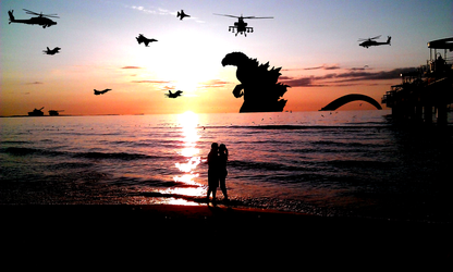 Nice sunset xD by drozdoo