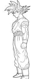 Goku Lineart by drozdoo
