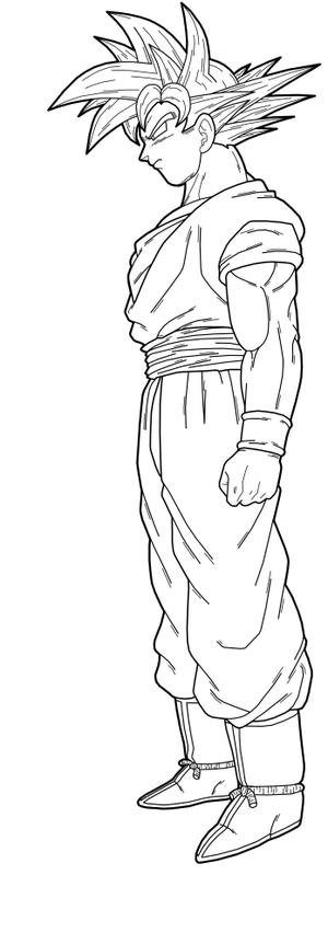 Goku Lineart