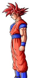 Goku SSGod by drozdoo