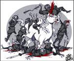 Unicorn vs ninjas