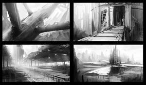 Futuristic sketches