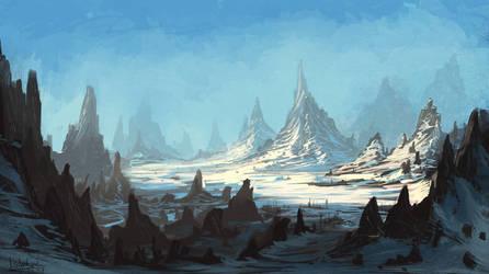 Snowy cliff by IIDanmrak