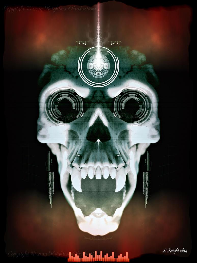 Electro Tech Vamp Skull by KnightFlyte96