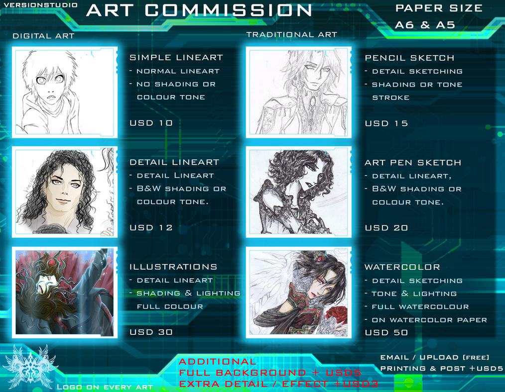ART COMMISSION OPEN! by versionstudio