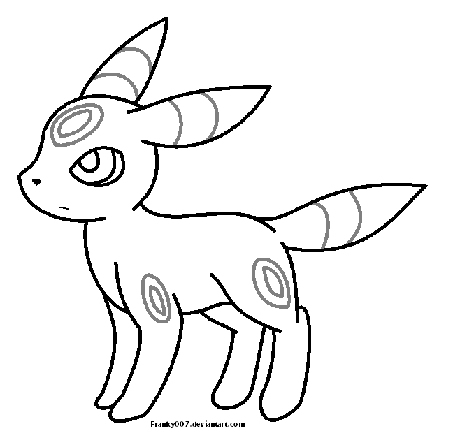 Umbreon Template By Franky007 On Deviantart Umbreon Coloring Pages