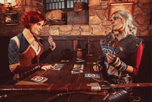 Triss Merigold and Cirilla by RealLeiradna