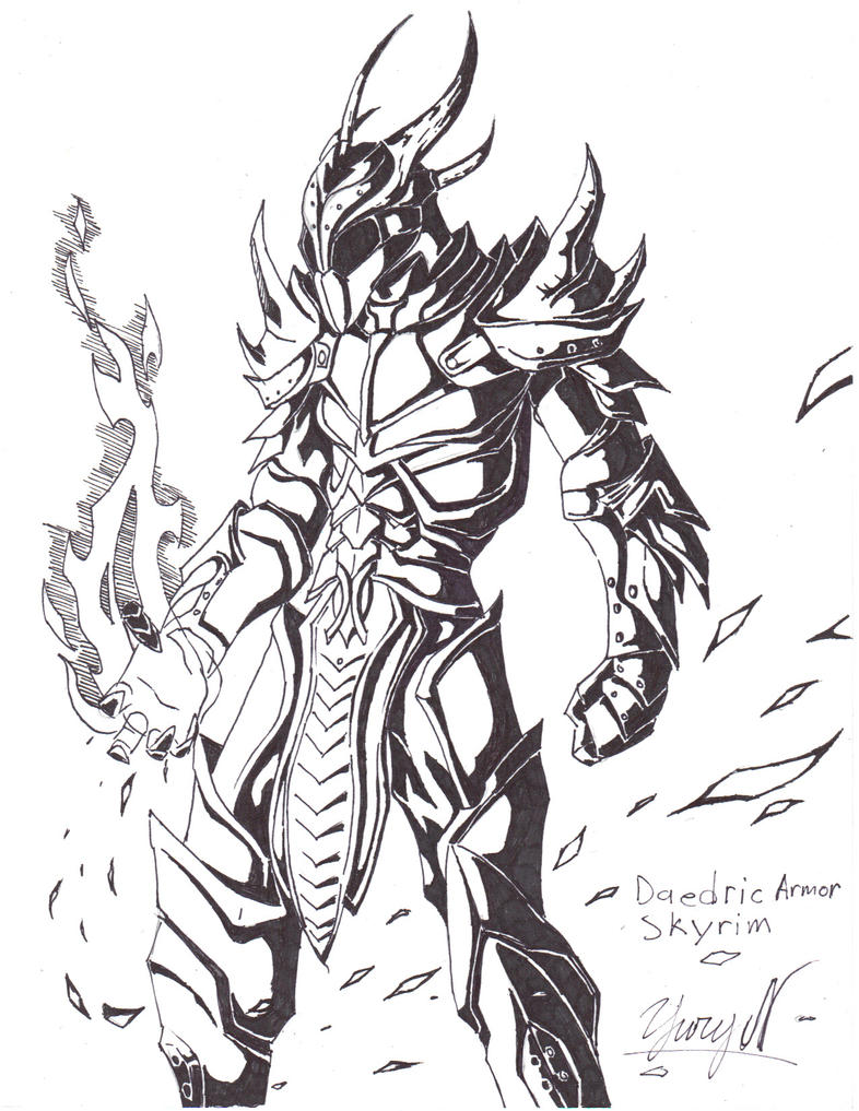 Skyrim Dragon Priest - Free Coloring Pages