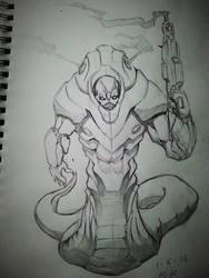 X-Com UFO Snake Man by alphalifeform