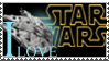 I LOVE STAR WARS STAMP by chesterslinkinlady