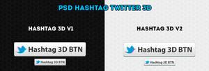 PSD Hashtag Twitter 3D