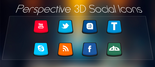Perspective 3D Social Icons by iAbel14
