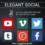 Elegant Social Icons