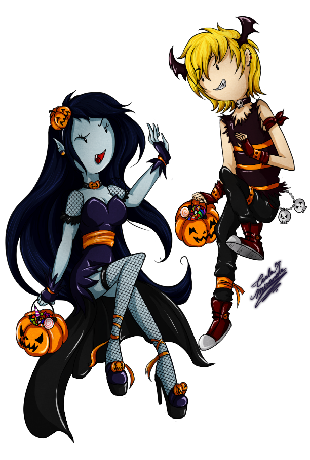 initiating halloween: Finn x Marceline by DivaSaorin