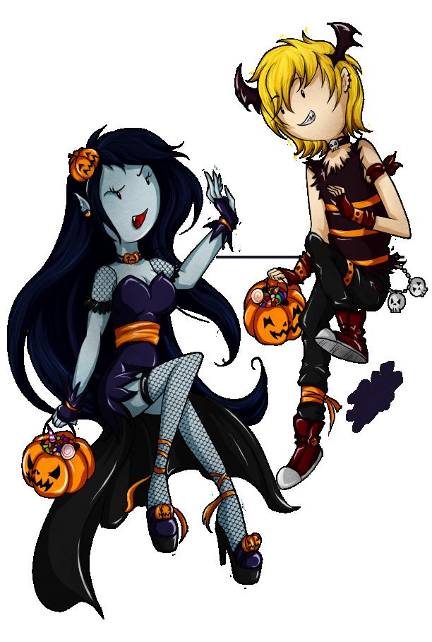 initiating halloween: Finn x Marceline by KarLa-Eriza