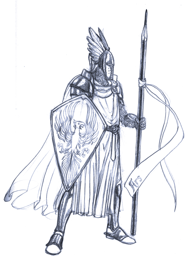 Art Knight Sketch by Aegyptian