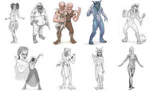 Sketches for Face Off