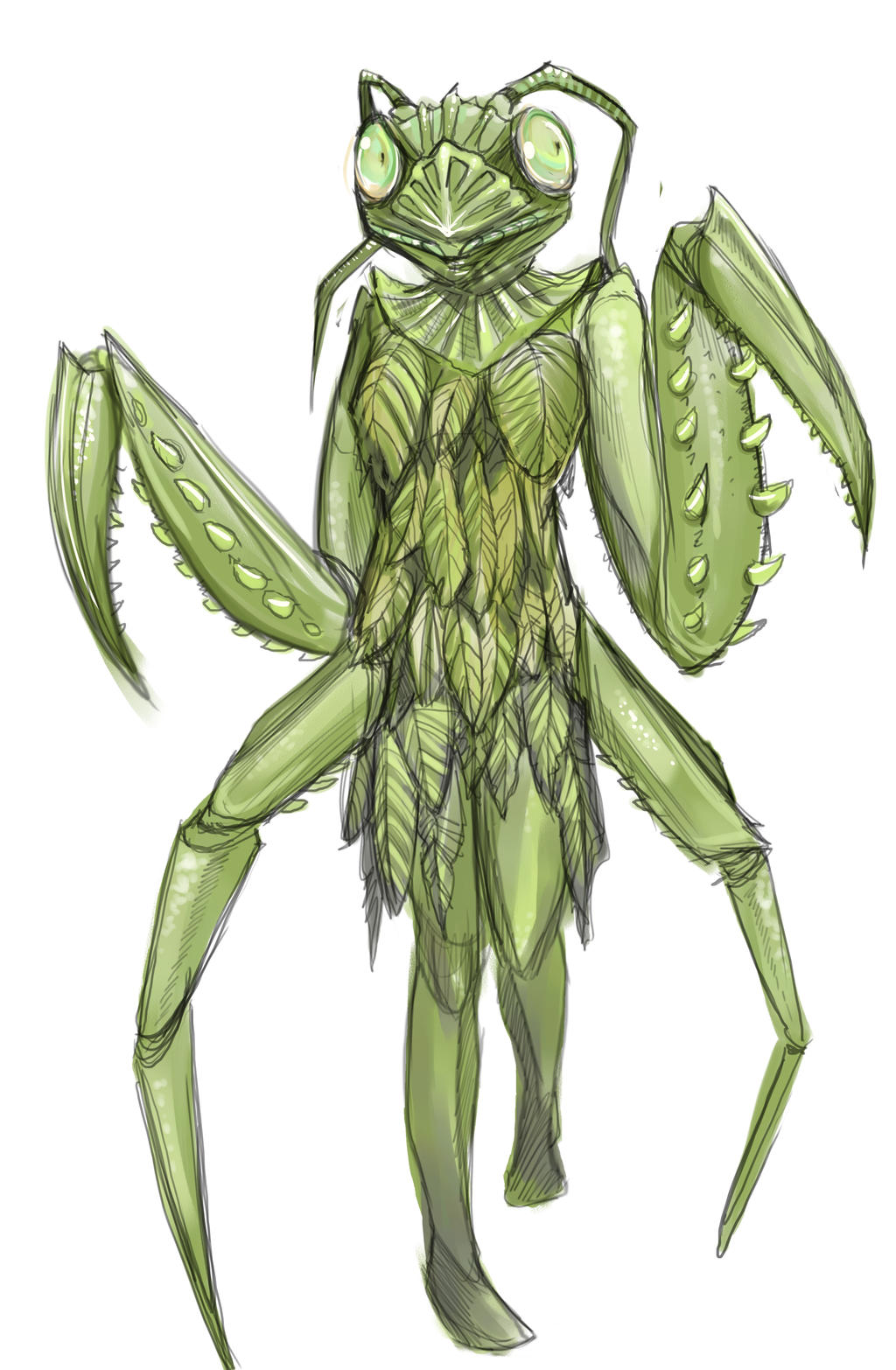 Dina's Praying Mantis - Syfy's Face Off by MissTakArt