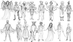 Face Off- Season 7- Black and White Sketches