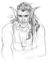 Brix'tul Sketch- Darkspear Axe Thrower by MissTakArt