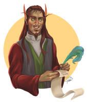 Blood Elf for Winter Veil by MissTakArt