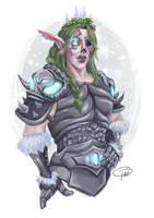 Night Elf Death Knight Kalthia by MissTakArt