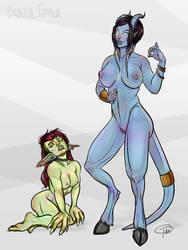 Draenei and Goblin Version 2 by MissTakArt