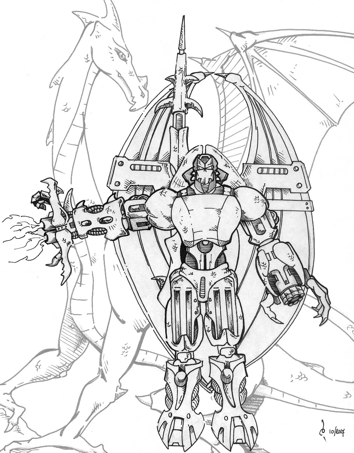 Predaking transformers coloring pages ~ Beast Wars Predacon by Mace2006 on DeviantArt