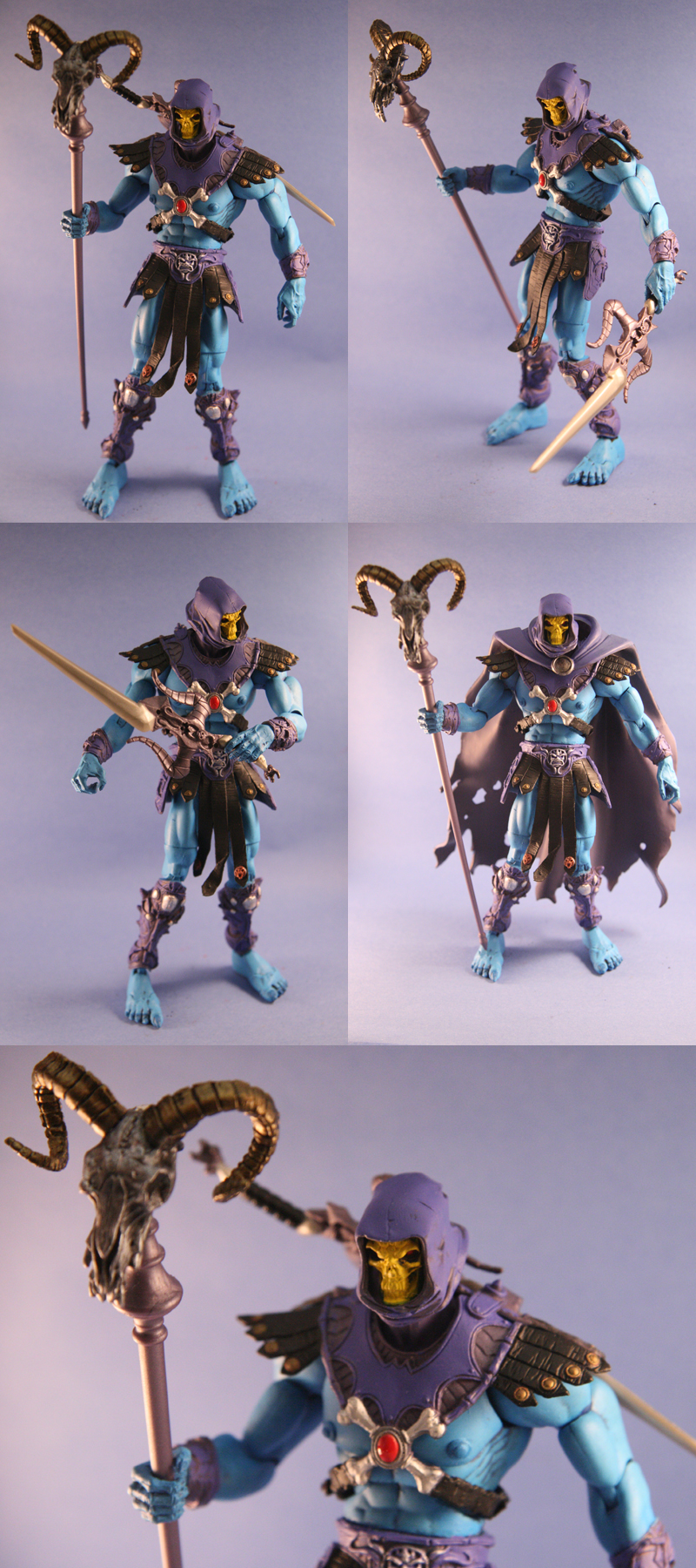 Custom Skeletor action figure by Mace2006